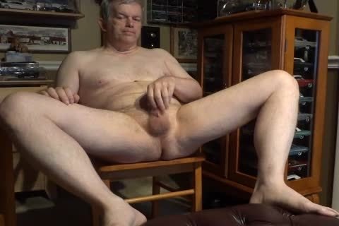 nude 60 Year older Daddy Masturbating